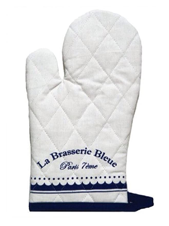 La Brasserie Blue Oven Mitts