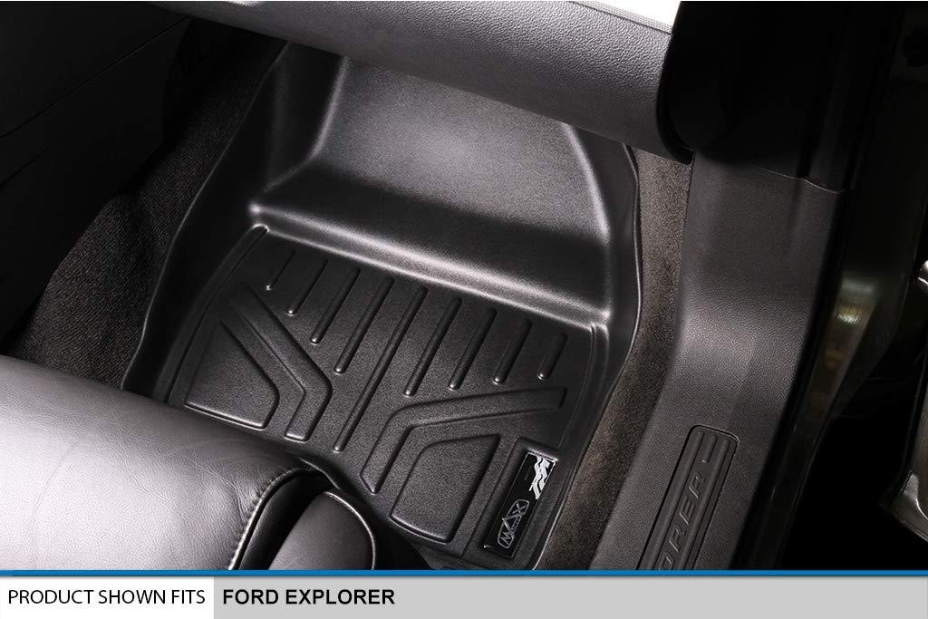 Black 2017 1st Row Set MAXLINER A0245 Floor Mats for Ford Explorer