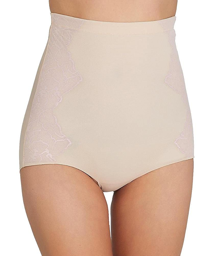 bbfc96a68fb SPANX Assets Red Hot Label Luxe   Lean Firm Control High-Waist Lace Brief  at Amazon Women s Clothing store