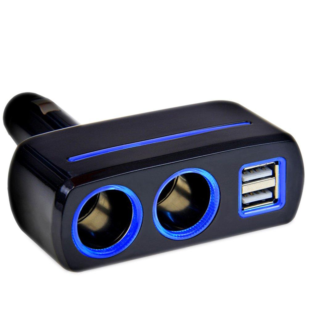 VORCOOL Dual USB Auto Ladegerä t mit Doppel Zigarettenanzü nder (schwarz) PRH1708OPXT08JHVWR2P6EIT8