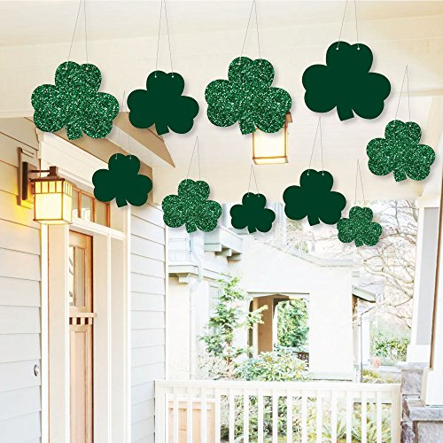 Hanging St. Patrick's Day - Outdoor Hanging Decor - Saint Patty's Day Party Decorations - 10 Pieces