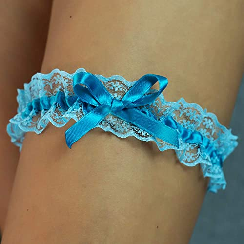 7e2e6d1eed Liguero liga novia boda puntilla regalo novia azul claro turquesa despedida  de soltera