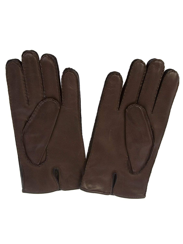 Merola Mens U06BISMOROBLU Brown Leather Gloves