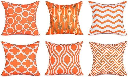 6PC//Set Home Decorative Pillowcase Cotton Linen Sofa Cushion Throw Pillow Cover