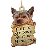 2021 Animal Two Sided Ornament, Cute Dog Car Hanging Ornament,Dog Lovers Funny Car Hanging (A)