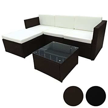 POLY RATTAN Sitzgruppe Essgruppe Set   Cube Sofa Garnitur Gartenmöbel  Lounge Farbwahl