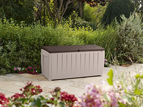 Keter Novel Plastic Deck Storage Container Box Outdoor Patio Furniture 90 Gal, Brown by Keter (Image #3)
