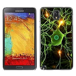 Be Good Phone Accessory // Dura Cáscara cubierta Protectora Caso Carcasa Funda de Protección para Samsung Note 3 N9000 N9002 N9005 // Neural Brain Science Biology