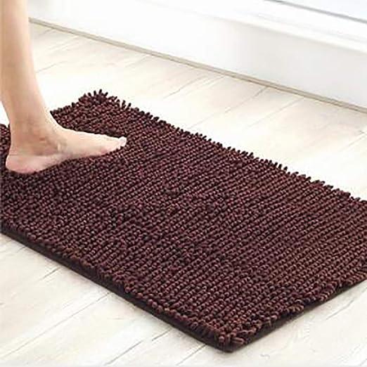 Door Mat Bathroom Rug Bedtoom Carpet Bath Mats Non-Slip Brown Gray wood flooring