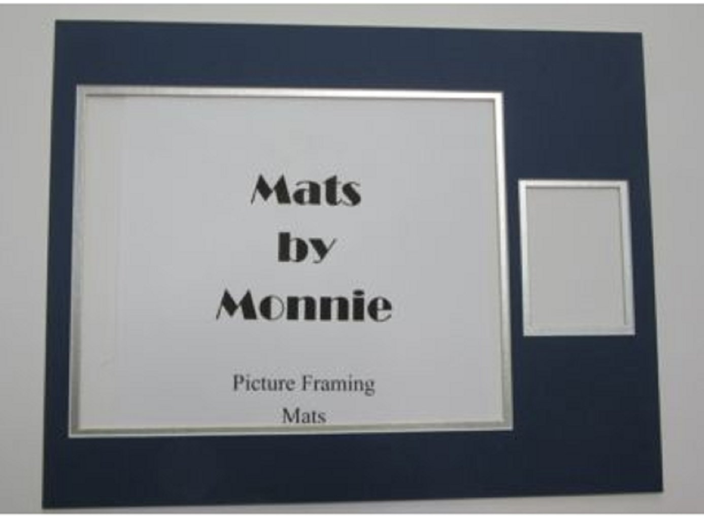 USA Premium Store Picture Mats 11x14 for 8x10 photo and sports card Cowboys blue silver set of 20
