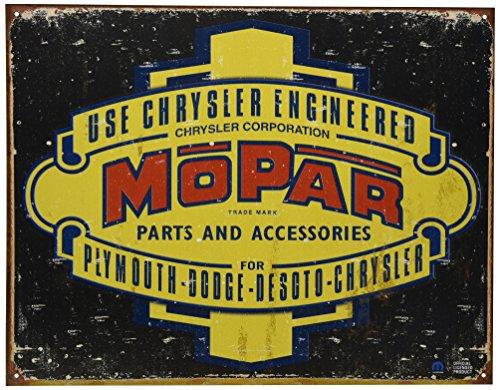 Mopar Genuine A68459742N HEMI Powered Vintage Tin Sign