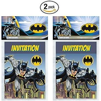 Batman 8ct Party Invitations