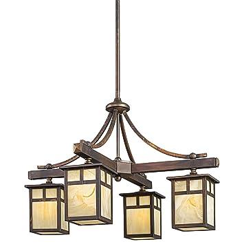 Kichler 49091CV Four Light Indoor/Outdoor Chandelier - - Amazon.com