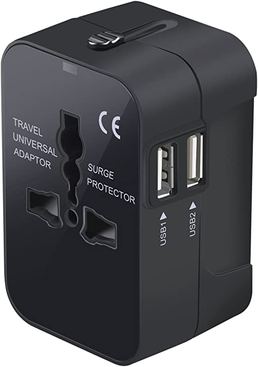 Universal Travel US AU EU Plug AC Power Socket to UK Plug Adapter Travel Charger