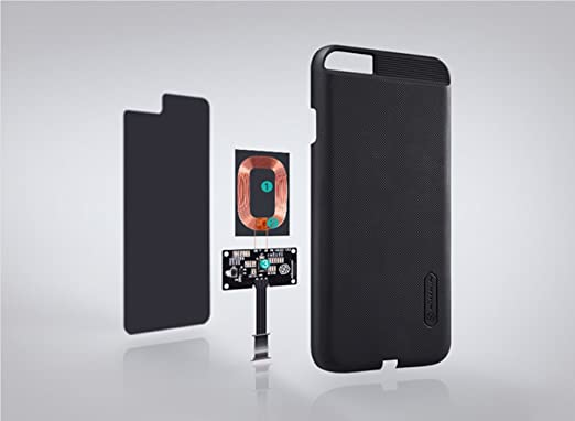 Nillkin Cargador Inalámbrico Qi receptor para iphone 6/6S Magic Case Slim cubierta trasera, color negro