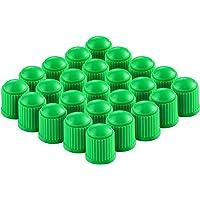 Generic Delux Car Wheel Tire Valve Stem Dust Caps for Car, Motorbike, Bike   Heavy-Duty, Airtight Seal - 100 Pieces (Green)