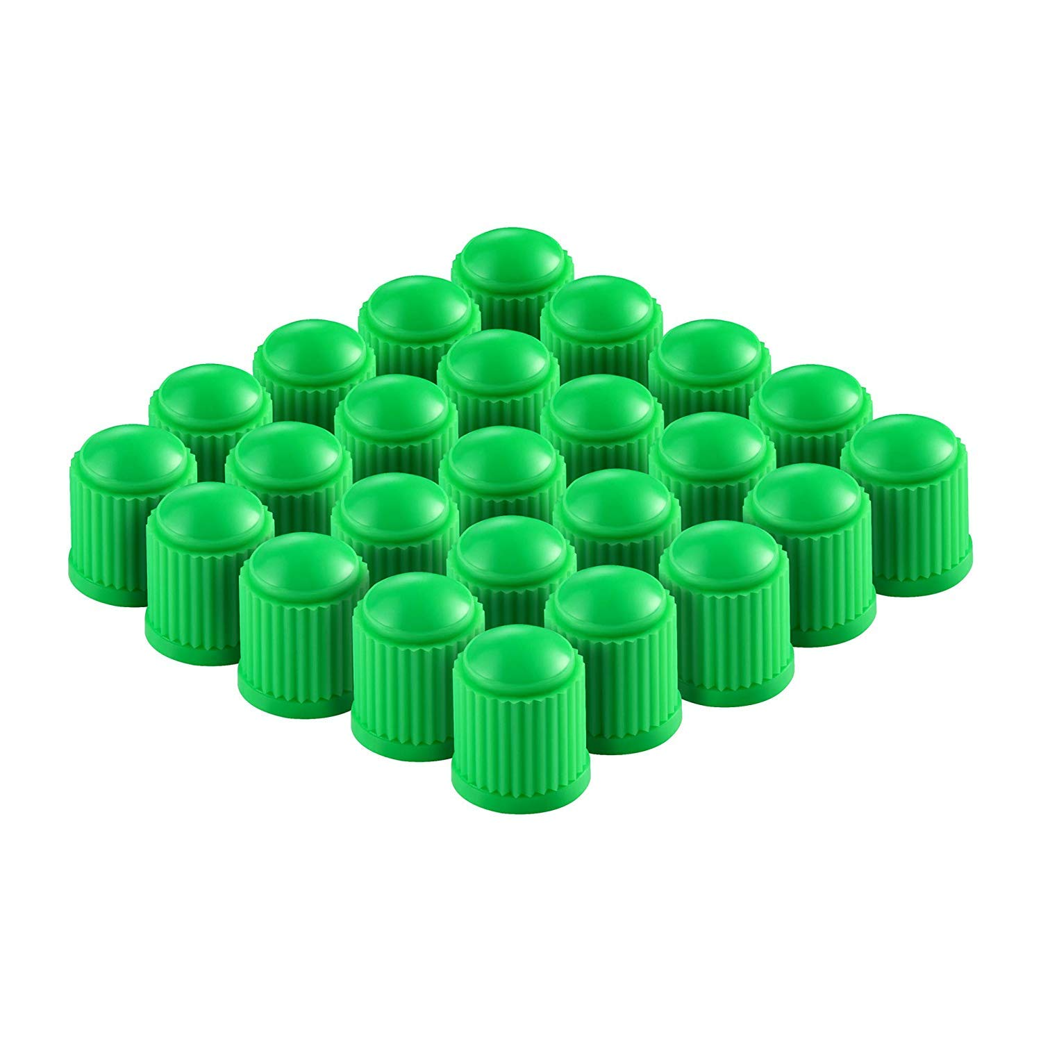 Delux Car Wheel Tire Valve Stem Dust Caps for Car, Motorbike, Bike and Bicycle | Heavy-Duty, Airtight Seal - 200 Pieces (Green) product image