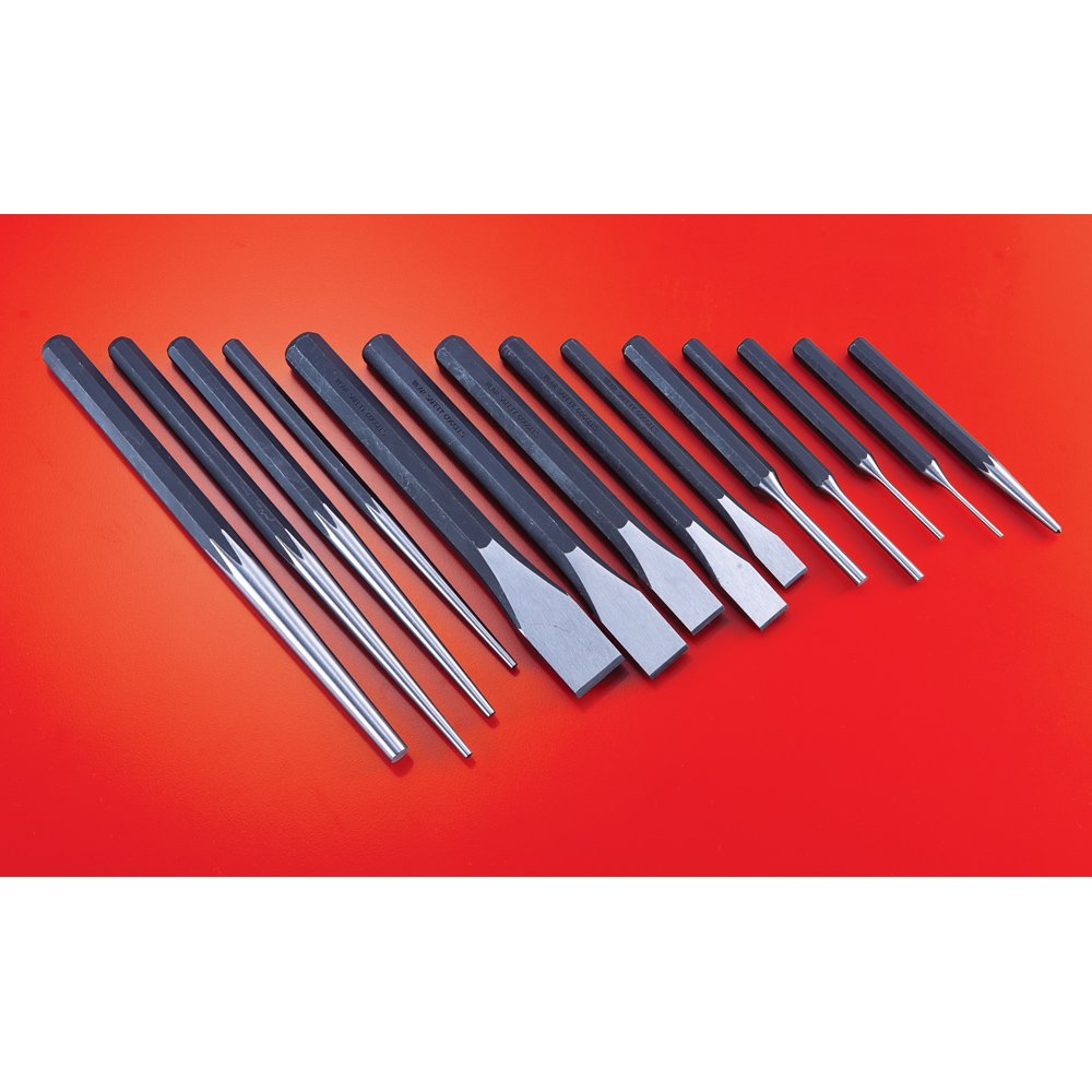 Powerbuilt 941226 Punch and Chisel Set, 14 Pieces