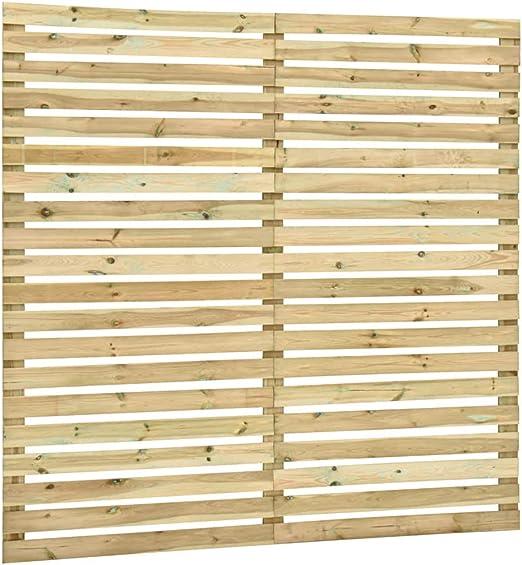 Festnight Panel de Valla de Jardín Madera de Pino Impregnada Vallas de Madera Jardín 180x180 cm: Amazon.es: Hogar