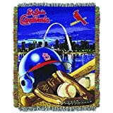 "The Northwest Company MLB St. Louis Cardinals Home Field Advantage Woven Tapestry Throw, 48"" x 60"""