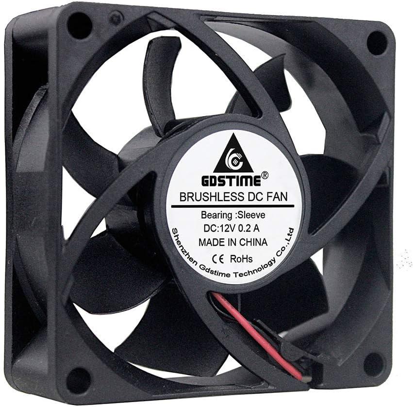 EverCool EC7025SH12BP 70mm x 25mm 12v Dual Ball 4Pin PWM Fan