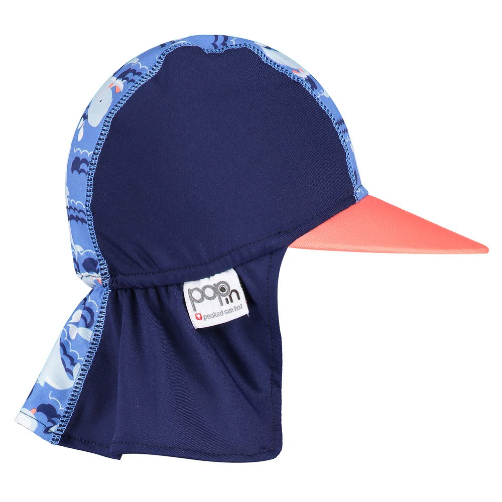 Pop-in Peaked Sun Hat Small Whale
