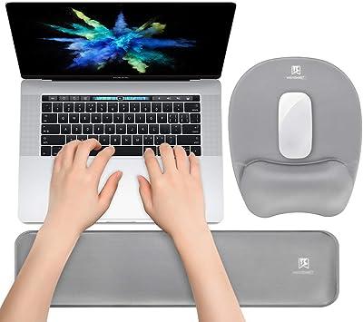 Gray Desktop Computer Aelfox Memory Foam Keyboard Wrist Rest/&Mouse Pad Wrist Support Ergonomic Design for Office Home Office Laptop Gaming Keyboard