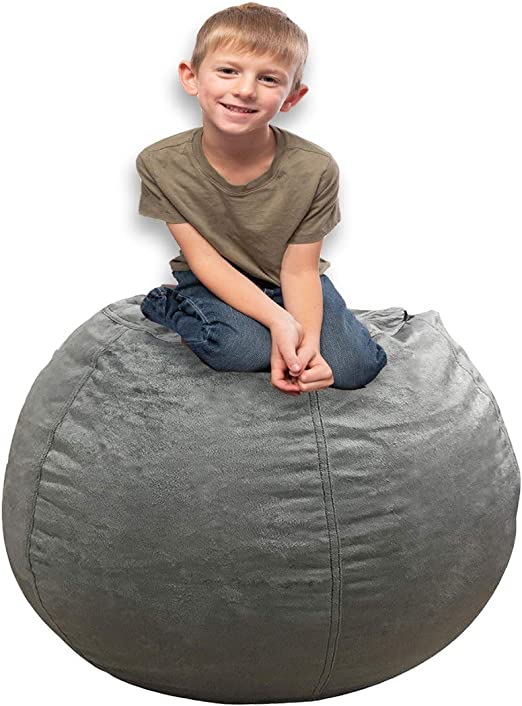 Amazon.com: Fundas de puf de lona de algodón extra grandes ...