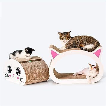 Junta De Rascar De Gato Cabeza De Gato Juguete De Garra De Papel Corrugado Suministros para Mascotas Gato Combinación Multi-tamaño De Cabeza De Gato.
