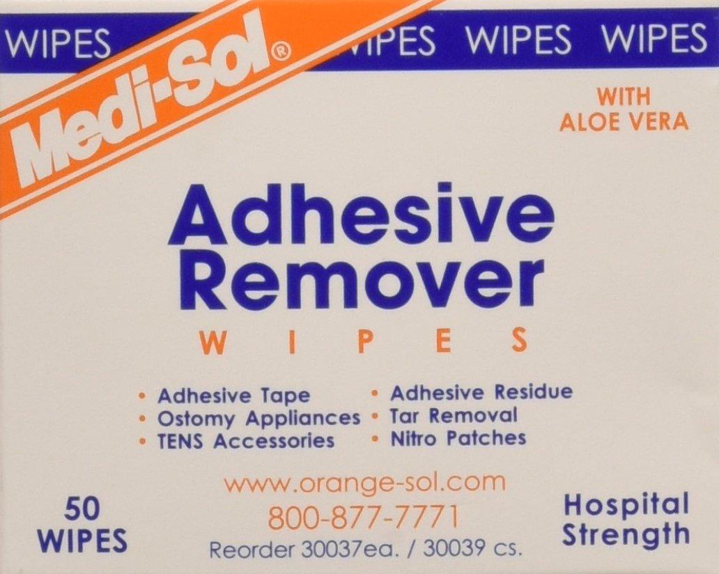 De-Solv-it! 30037 Orange Sol 50 Count Medi-Sol Adhesive Remover Wipes by De-Solv-it