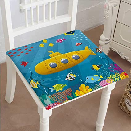 Amazoncom Mikihome Dining Chair Pad Cushion Yellow Sub Reef With