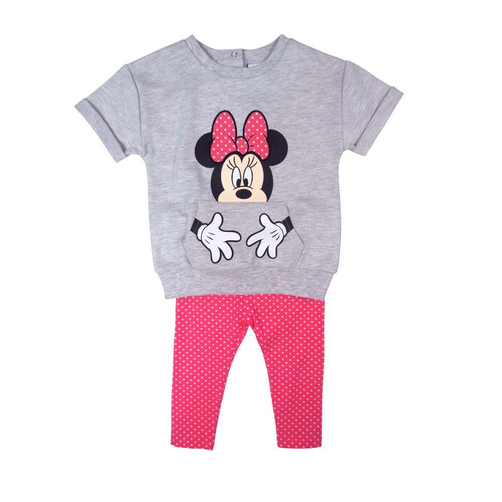 Disney Baby Girl's Minnie 2pc Legging Set, Grey, 12M DS18IG271