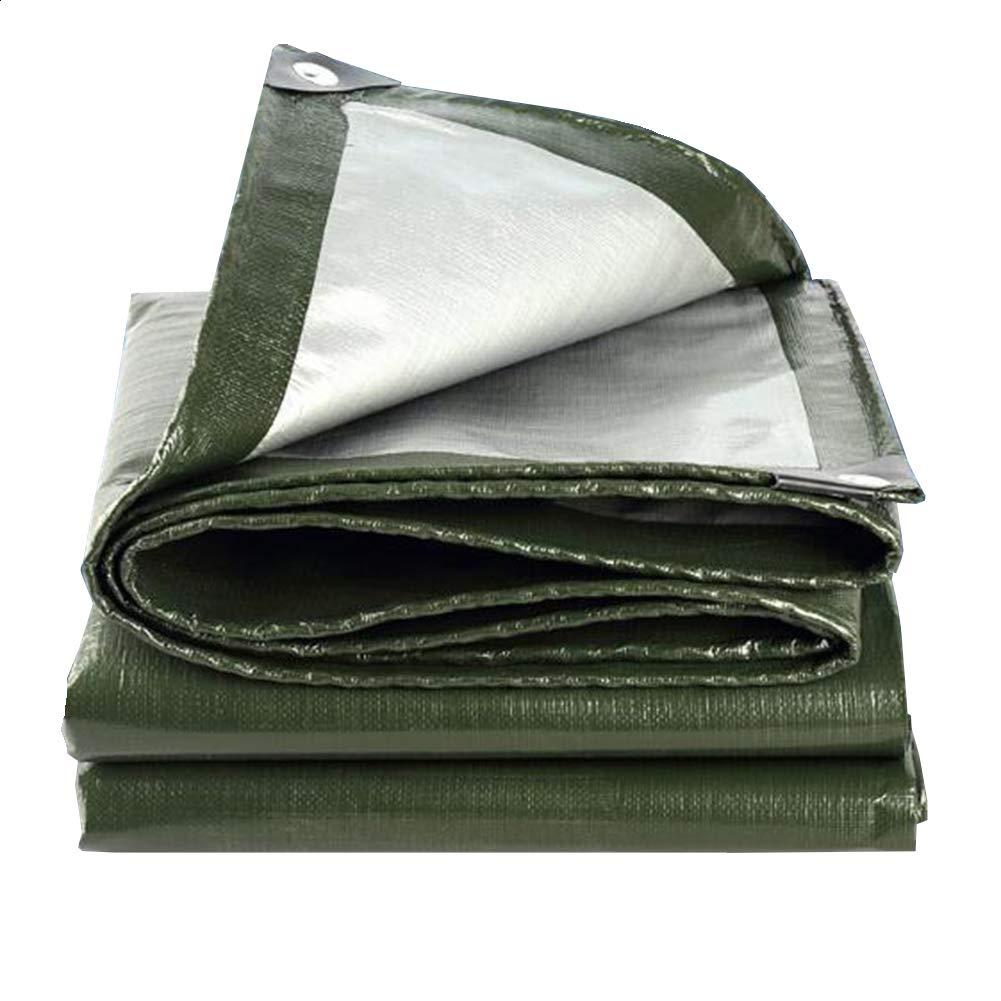 argent - vert 48M MuMa BÂche épaissir Crème Solaire Imperméable Imperméable Ombre Couverture Pluie Un Camion De Plein Air (Couleur   argent - vert, Taille   3  5M)