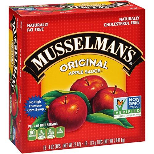 Musselman's Original Apple Sauce Cups, 4 Ounce