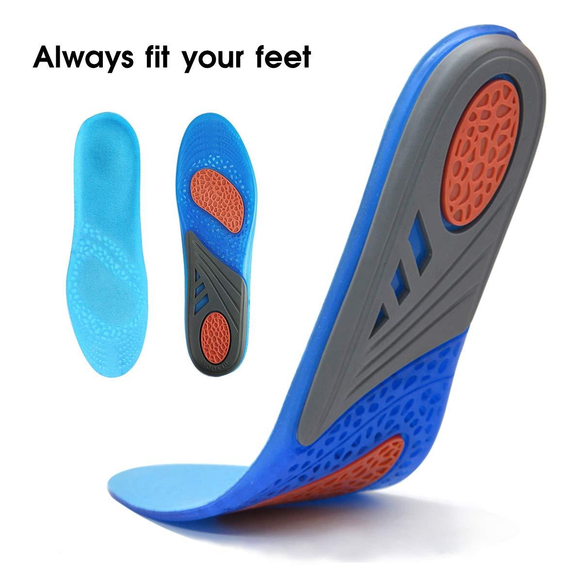 Schneidbare HLYOON Einlegesohlen Sport Breathable desodorierende Sweatproof bequeme Sto/ßd/ämpfung Schmerzlinderung Fasciitis Fersenschutz speziell bei Fersensporn