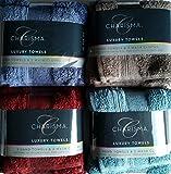 Charisma Luxury Hand Towel & Wash Cloth Set - 100% Hygro Cotton, Summer 2015 Colors (Dusty Turquoise)