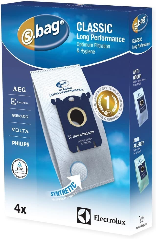 v/éritable AEG UltraOne UltraSilencer Aspirateur SACS S-BAG Chiffon Lot de 8 - E201 E201B Menalux