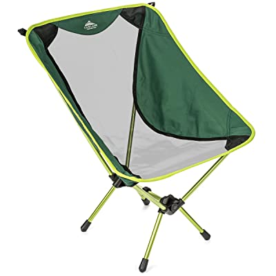 Cascade Mountain Tech Compact Lightweight Folding Portable Camp Chair for Backpacking, Camping, Hiking, Concerts, and Outdoor Festivals with Carry Case : Sports & Outdoors