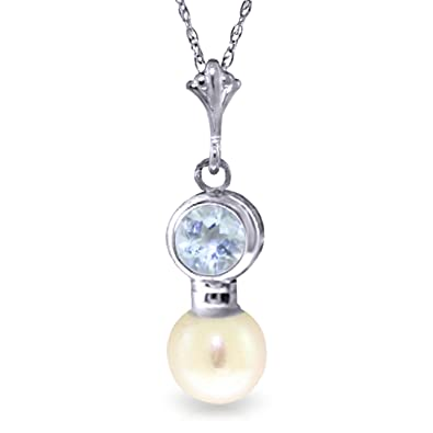 aqua aquamarine bezel pieces top stunning pendant jewelry drop sterling silver birthstone march freshwater necklace set cultured best marine pearl white