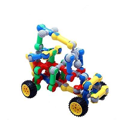 Juguetes educativos para niños Niños 3-12 Plástico 148 Esqueleto Racing Building Blocks Rompecabezas Desmontaje Juguetes for niños Regalo Educativo de Bloques de construcción para n: Hogar