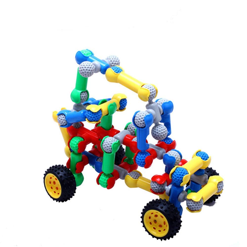 ZnMig Children 3-12 Plastic 148 Skeleton Racing Building Blocks Puzzle Disassembly Children's Toys Early Education Puzzle Building Blocks Toys (Color : Multi-Colored, Size : One Size)