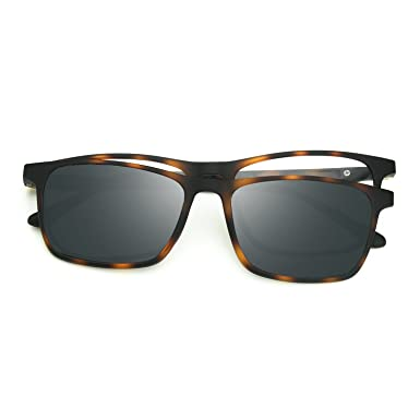 259e9616f7 Image Unavailable. Image not available for. Color  ZENOTTIC Prescription  Ready Sunglasses Magnetic Clip-on + Rx-able Ultem Glasses
