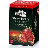 Ahmad Tea Strawberry Sensation Black Tea, 20 Teabags