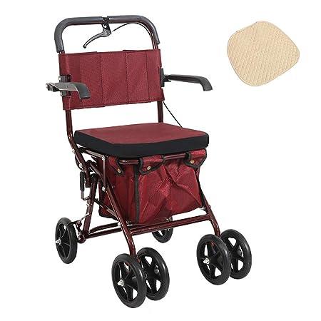 Andador para Ancianos De 4 Ruedas,Plegable,Regulable En ...