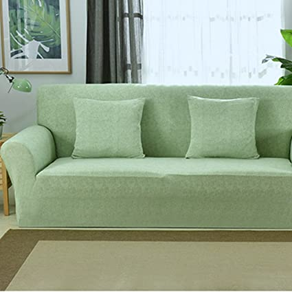 Raylans Extensible Seat Chair Covers Couch Slipcover Sofa Loveseat Cover 15 Colors/4 for 1 2 3 4 Four People Sofa Green