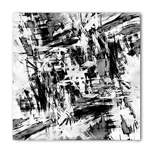 Ambesonne Black and White Bandana, Grunge Artwork, Unisex Head and Neck -
