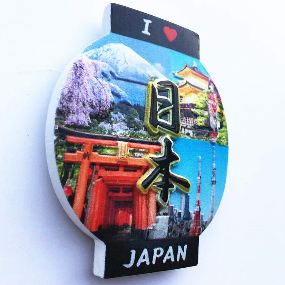 MUYU Magnet Calamita da Frigorifero 3D a Forma di Lanterna I Love Japan Souvenir da Collezione Decorazione per casa e Cucina