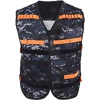 Tbest Nerf Chaleco Camuflaje, Gun N-Strike Elite Series Camouflage Vest Chaleco de Clip de Juguete para Niños