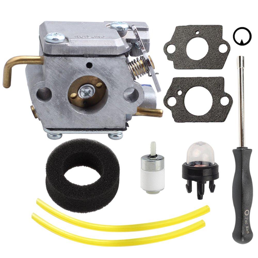 Amazon.com: Harbot WT-827 carburetor with Air Filter Adjustment Tool for  Bolens BL100 BL150 BL250 Trimmer BL410 Tiller Yard Man YM70SS 2800m Y28  Y725 YM1000 ...