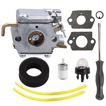 amazon com harbot wt 827 753 0433 carburetor with air filter Walbro Fuel Filter harbot wt 827 753 0433 carburetor with air filter adjustment tool for bolens bl100
